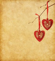 Free Two Red Hearts Royalty Free Stock Photography - 36258457