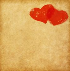 Free Two Hearts Royalty Free Stock Photography - 36258567