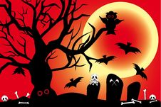 Free Illustration For Halloween With Spooky Design Elem Royalty Free Stock Photos - 36258768