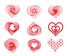 Free Vector Valentines Day Icons Stock Images - 36258824