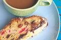 Free Fruitcake With Hot Coffee Stock Photos - 36261883