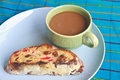 Free Fruitcake With Hot Coffee Royalty Free Stock Image - 36262136