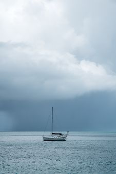 Free Rain Over The Caribbean Sea 1 Stock Photography - 36260102
