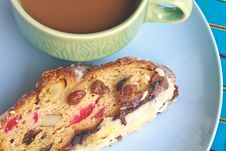 Free Fruitcake With Hot Coffee Stock Photos - 36261883