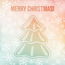Free Christmas Background, Snowflakes And Soft Colors Royalty Free Stock Photography - 36262527