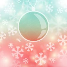 Christmas Background, Snowflakes And Soft Colors Stock Photo