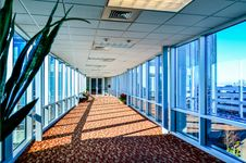 Free Modern Corporate Architecture Skywalk Stock Photos - 36265453