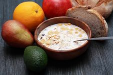 Free Bowl With Muesli Royalty Free Stock Image - 36268126