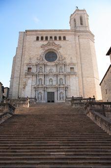 Gerona Cathedral Stock Photo
