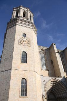 Gerona Cathedral Royalty Free Stock Photos