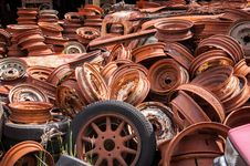 Rusty Wheels Royalty Free Stock Image