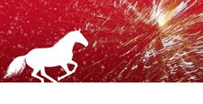 Free Horse For New Year On Red Background With Fireworks Royalty Free Stock Images - 36274839