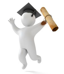 Free Cartoon Mascot Character Graduation Stock Image - 36279531