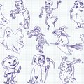 Free Freehand Drawing Halloween Stock Photos - 36280513