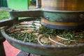 Free Green Tea Oven Dryer Machine Stock Image - 36280601