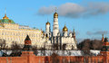 Free Beautiful Churches In The Moscow Kremlin Stock Photography - 36281202