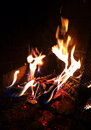 Free Fire In A Fireplace Royalty Free Stock Images - 36283919