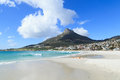 Free Beautiful Camps Bay Beach And Lion Head Mountain Royalty Free Stock Photos - 36285328