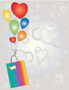Free Gift With Balloons. Royalty Free Stock Photo - 36286355