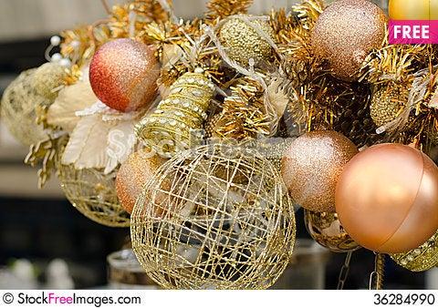 Free Close Up Of Christmas Decoration Stock Photo - 36284990