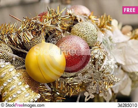 Free Beautiful Christmas Decoration Stock Photo - 36285010