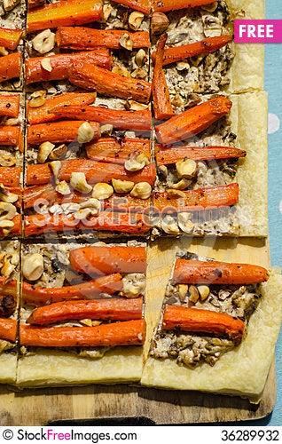 Free Vegetarian Tart Stock Photography - 36289932