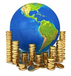 Global Economy. Conceptual Illustration Royalty Free Stock Photography