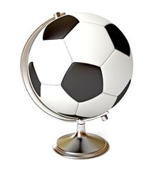 Soccer Ball And Globe Stock Photography