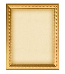 Golden Empty Frame For Your Picture Stock Photography
