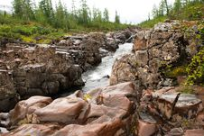 Free Mountain River In The Rocks. Stock Image - 36280771