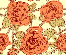 Free Freehand Drawing Roses Royalty Free Stock Image - 36280996