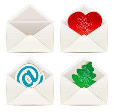Free White Envelope. Valentine S Day And Christmas Royalty Free Stock Photos - 36283448