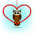 Free Cute Owl Valentine&x27;s Day Card Royalty Free Stock Photos - 36292778