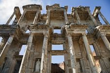 Celsus Library In Ephesus Royalty Free Stock Photography