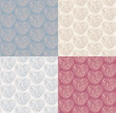 Valentines Day Pattern Set Royalty Free Stock Photography