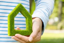 Free Green House Icon Stock Photography - 36292302