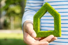 Free Green House Icon Royalty Free Stock Photo - 36292305