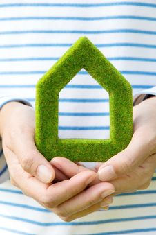 Eco House Icon Royalty Free Stock Image
