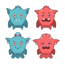 Free Monster Emotions Set Stock Images - 36292654