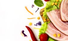 Ham With Vegetables Royalty Free Stock Image