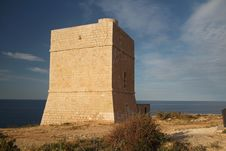 Madliena Watchtower At The Malta Coast Royalty Free Stock Photos