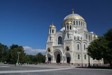 The Naval Cathedral Of Saint Nicholas In Kronshtad Royalty Free Stock Photo