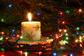 Free The Christmas Candle Royalty Free Stock Image - 3639216