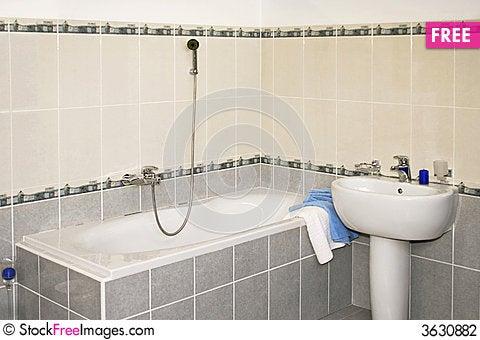 Free Grey Bath Stock Photography - 3630882