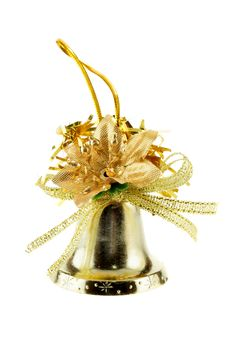 Free Golden Christmas Bell Royalty Free Stock Images - 3631779
