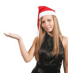 Free Mrs Santa Holding Something Stock Photography - 3631842