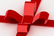 Free Red Ribbon On White Present Royalty Free Stock Photography - 3631907