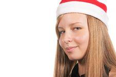 Santa Girl Close-up Stock Photography