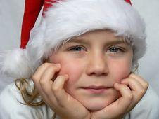 Small Santa Is Looking At You Stock Photo