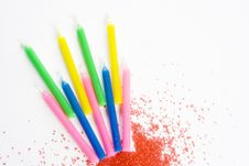 Free Candles And Sprinkles Stock Photography - 3633202